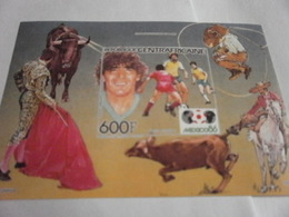 Miniature Sheet Imperf Mexico 1986 Football World Cup - Central African Republic
