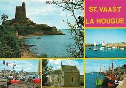 50 Saint Vaast La Houque Divers Aspects (2 Scans) - Saint Vaast La Hougue