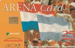 TARJETA FUNCIONAL DE AMSTERDAM ARENA CARD DE HOLANDA (CHIP), FUTBOL-BANDERAS. HOLANDA - ARGENTINA. A027 (201) - Otras Colecciones