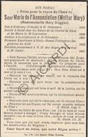 Doodsprentje Zuster/Soeur Marie De L'Annonciation / Mary Duggan °1856 Kilkenny †1931 Kortrijk  (B188) - Obituary Notices