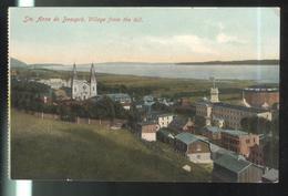 CPA Québec Sainte Anne De Beaupré , Village From The Hill - Ste. Anne De Beaupré