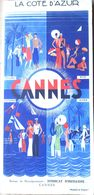 06 CANNES DEPLIANT TOURISTIQUE ANNEE 1930 GOLF  LUXE MODE - Mouthe