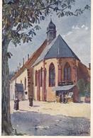 68. COLMAR .  RARETE. . LA CHAPELLE DE L'HÔPITAL. DESSIN J.JACQUES WALTZ ( HANSI). + TEXTE ANNÉE 1927 - Colmar