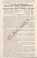Doodsprentje Zuster/Soeur Margareta / Leonie-Marie Lambert °1872 Bavikhove †1954 Harelbeke (B176) - Obituary Notices
