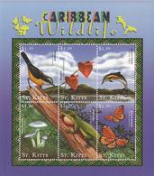 2001 St. Kitts Reptiles Lizards  Set Of 2 Sheets MNH - St.Kitts En Nevis ( 1983-...)