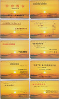 LOT De 10 Télécartes Japon / 110-200 - Paysage & Coucher De Soleil - Sunset Japan Phonecards Telefonkarten -  MD 43 - Japan