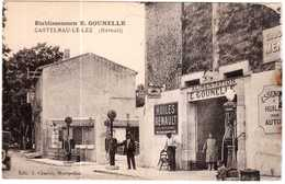CPA HERAULT.CASTELNAU-le-LEZ.ETABLISSEMENTS E. GOUNELLE.ALIMENTATION.STATION D'ESSENCE - Castelnau Le Lez