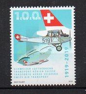 SUISSE - SWITZERLAND - 2019 - 100éme ANNIVERSAIRE - 100th ANNIVERSARY - TRANSPORT AERIEN - AIR TRANSPORT - - Suisse