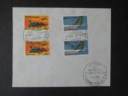 FDC 1er Jour D'émission (V1909) KATANGA (2 Vues) 75/78 - 01/08/1961 ELISABETHVILLE Envelloppe - Katanga