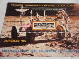 Miniature Sheet Perf Apollo 15 Space Exploration - Equatorial Guinea