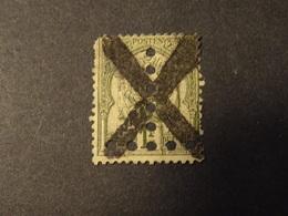 TUNISIE  TAXE 1888-98  -1 FRANC   Perforé Perfin - Timbres-taxe