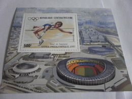 Miniature Sheet Perf Pre Olympics 1987 - Central African Republic