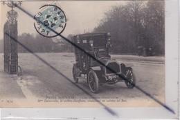 Paris (75) Les Femmes Chauffeur - Mme Decourcelle,la Cochère-chauffeuse,conduisant Un Autotax Au Bois - Transport Urbain En Surface