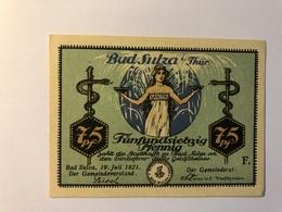 Allemagne Notgeld Sulza 75 Pfennig - [ 3] 1918-1933 : République De Weimar