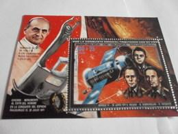 Miniature Sheet Perf 1971 Russian Cosmonauts - Equatorial Guinea