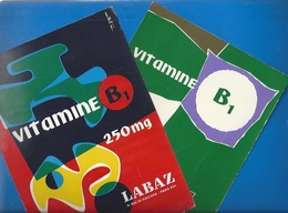 BUVARDS -  LOT DE 2 BUVARDS - PHARMACIE - VITAMINE B1 LABAZ - Chemist's