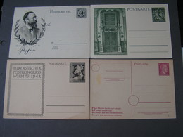 DR Karten Lot - Ganzsachen