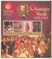 2001 St. Kitts Giuseppe Verdi Opera Music Complete Set Of 2  Sheets MNH - St.Kitts-et-Nevis ( 1983-...)