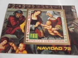 Miniature Sheet Imperf Nativity 1972 - Equatorial Guinea