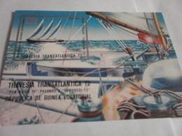 Miniature Sheet Imperf Transatlantic Travel - Equatorial Guinea