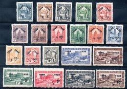 TUNISIE - YT N° 185 à 204 - Neufs * - MH - Cote: 205,00 € - Neufs