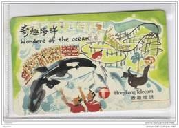 Carta Telefonica Hong Kong - Wonders Of The Ocean - Carte Telefoniche@Scheda@Schede@Phonecards@Telecarte@Telefonkarte - Hong Kong