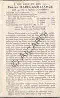 Doodsprentje Zuster/Soeur Marie-Constance / Maria Paulina Goeminne °1890 Oudenaarde †1954 Gent (B177) - Obituary Notices