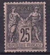 France YT 97 Année 1886 - Noir Sur Rose (Used °) - 1876-1898 Sage (Type II)