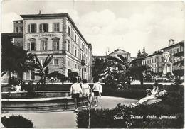 W3074 Rieti - Piazza Della Stazione / Viaggiata 1955 - Rieti