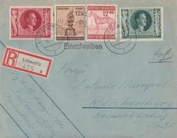 DR R-Brief Mif Minr.845,847,858,886 Leitmeritz 18.5.44 - Deutschland