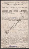 Doodsprentje Zuster/Soeur Maria Sylveria / Maria Theresia Lampaert °1846 Ursel †1914 Lovendegem - Knesselare (B218) - Obituary Notices