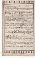 Doodsprentje Zuster/Soeur Scholastica / Barbara De Pottere °1817 Pittem †1889 Ruisselede (B206) - Obituary Notices