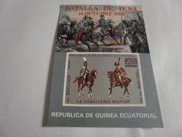 Miniature Sheet Imperf Military Horses - Equatorial Guinea