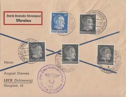 Dt. Besetzung Ukraine Brief Mif Minr.4x 1, 11 Rowno 26.7.42 - Bezetting 1938-45
