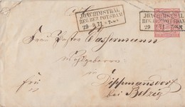 NDP GS-Umschlag 1 Gr. R3 Joachimsthal Reg. Bez. Potsdam 29.9.71 - Norddeutscher Postbezirk