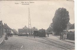 Aalter - Aeltre - Rue De La Station Statiestraat Met 2 Stoomtrams! - Aalter