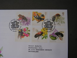 GB FDC 2015  Bees - FDC