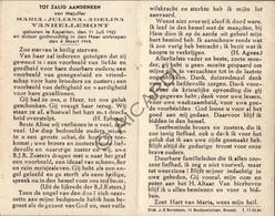 Doodsprentje Maria Juliana Adelina Vanhellemont °1922 Kapellen †1943 (B169) - Obituary Notices