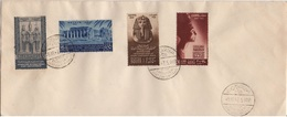 EGYPTE YT N°250 A 253 OBLITERATION PREMIER JOUR(FDC) THEME ARTS - Egypt
