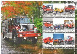 Ukraine 2016, Firefighting Cars, Sheetlet Of 9v - Ukraine