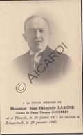 Doodsprentje Jean-Théophile Lamine °1877 Herent †1940 Schaarbeek Echtg. Thérèse Goeseels (B178) - Obituary Notices
