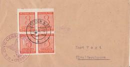 SBZ Brief Mef Minr.4x 118  4er Block Dresden 19.10.46 Zensur - Sowjetische Zone (SBZ)