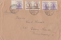 SBZ Brief Mif Minr.2x 138,3x 141 Chemnitz 15.3.46 Gel. Nach Essen-Steele - Sowjetische Zone (SBZ)