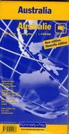 Australie - Carte Politique - Fuseaux Horaires Diagrammes Climatique 1:4 000 000 - Roadmaps