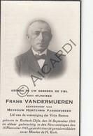 Doodsprentje Frans Vandermueren °1866 Korbeek-Dijle †1942 Echtg. Hortensia Vanderveken  (B230) - Obituary Notices