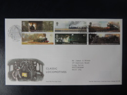 GB 2004 FDC - Classic Locomotives York Postmark Railways Trains - FDC
