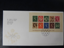 GB 2002 FDC - Miniature Sheet Wilding Definitives Tallents Postmark First Day Cover - FDC