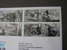 GB FDC 2013  Rugby - FDC