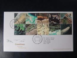 GB 2002 FDC - Coastlines Poolewe Postmark Aerial Views - FDC