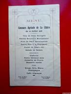 Menu  Concours Agricole De LA CHÂTRE 15 Juillet 1928 - Menus